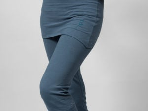 inderjit yoga pants blue indigo
